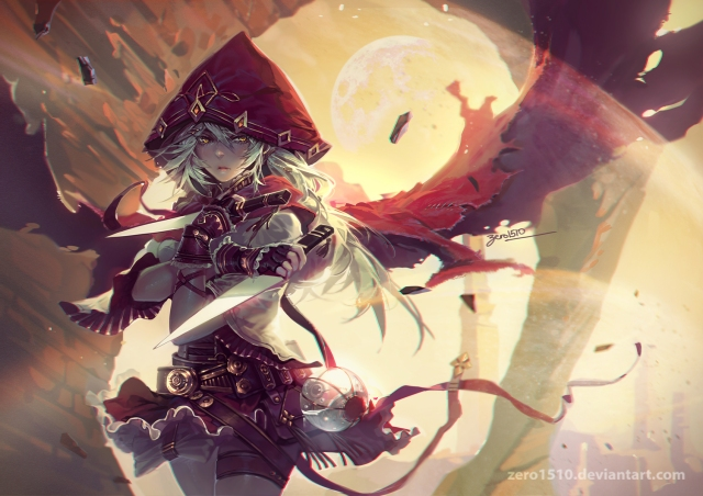 Artista: Zero1510 Personagem: Suarelia, personagem original comissionada por outro membro do DA. Fonte: http://zero1510.deviantart.com/art/Lonely-wanderer-637560751?q=Zero1510%2F39022805&qo=5